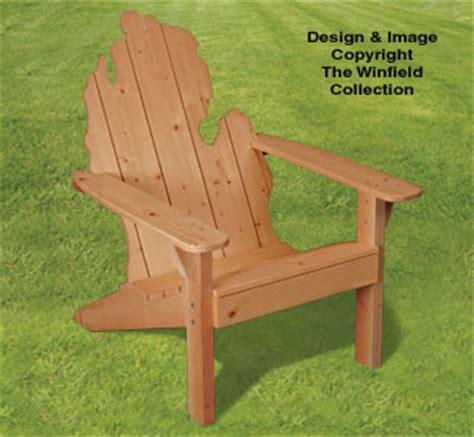 items adirondack michigan chair plans