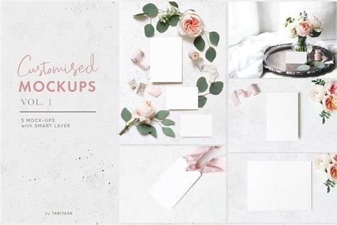 customised mockups vol   images postcard design