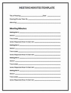 Meeting minutes template e commercewordpress for Taking minutes in a meeting template