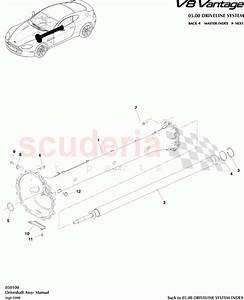 Aston Martin V8 Vantage Driveshaft Assembly  Manual  Parts