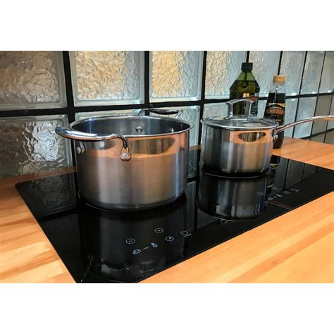 induction cooktop glass true elements cooktops ti 2b cookware sets homedepot