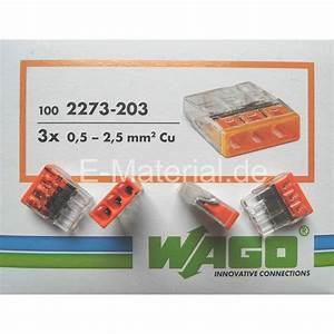 Wago 2273 203 : wago 2273 203 0 5 2 5mm 3 leiter klemme f r starre leitung 100 39 er schachtel elektromaterial ~ Orissabook.com Haus und Dekorationen