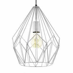 Eglo carlton silver open wire cage pendant light