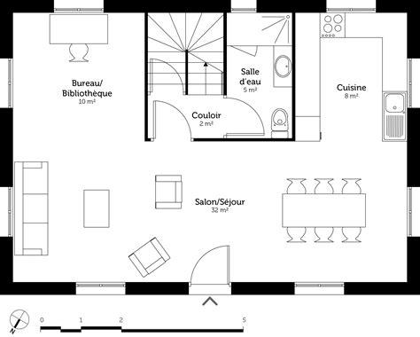 etag e bureau plan maison à étage 110 m ooreka
