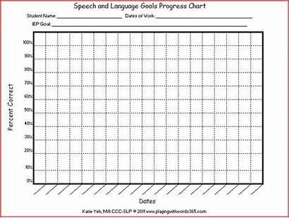 Data Speech Therapy Sheets Slp Progress Chart