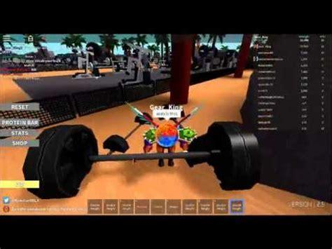 roblox weight lifting simulator  strength glitch youtube