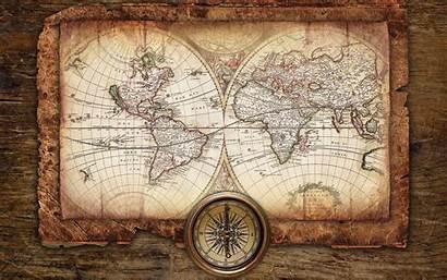 Map Antique Desktop Background Wallpapers Tablet Compass