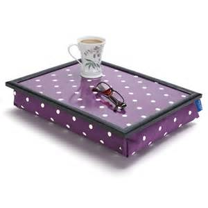 Tray Table For Bed by Cushioned Lap Tray Purple Polka Dot By Blue Badge Company