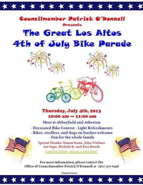 los altos festival of lights 4th of july bike parade in los altos long beach 2013
