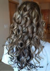 Curly Hair with Highlights and Lowlights