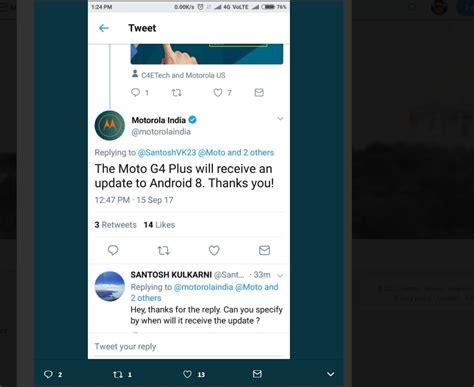 motorola moto g4 plus android oreo release update roll