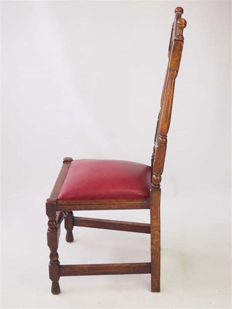 Set 6 Antique Liberty & Co Lochleven Oak Dining Chairs