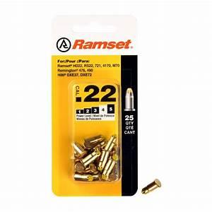 Ramset 022 Caliber Yellow Single Shot Powder Loads 25
