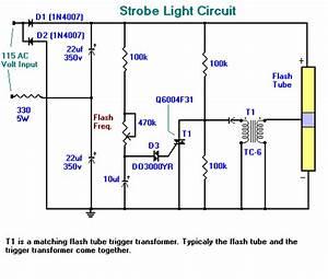 Strobe Light Circuit Circuit Diagram World
