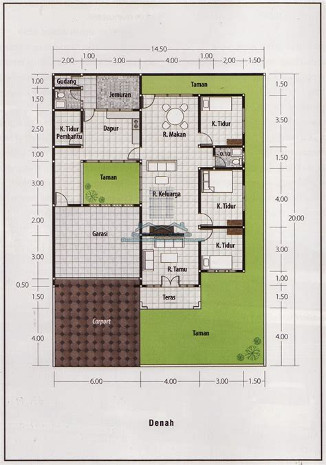 denah rumah minimalis  lantai  kamar gambar denah rumah