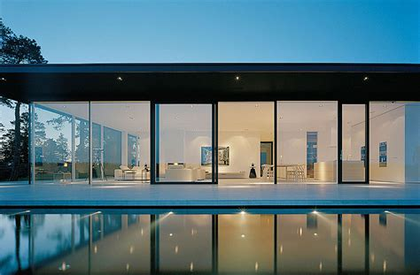 stunning glass house  sweden