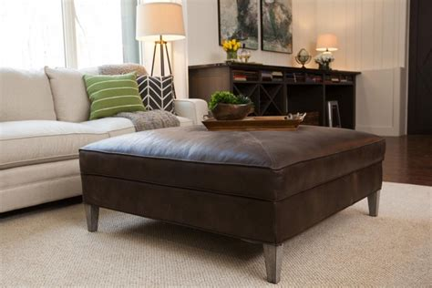 Distressed pine large rectangle wood coffee table home decorators collection aldridge 55 in. Top 50 Brown Leather Ottoman Coffee Tables | Coffee Table Ideas