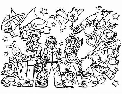 Pokemon Coloring Team