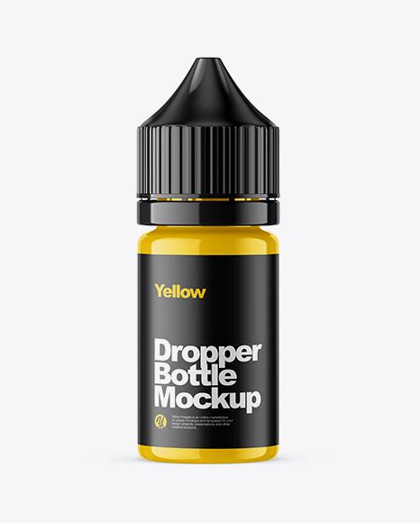 Two glossy dropper bottles mockup in bottle mockups on yellow images object mockups. 30ml Glossy Dropper Bottle Mockup - 15ml Glossy Dropper ...