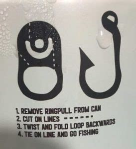 beer   fish hook tab ringpull bass fishing facts