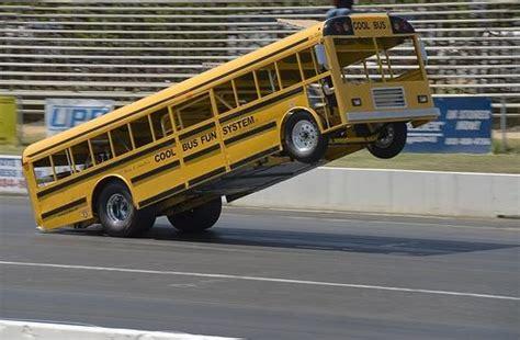 School Bus Drag Race Wheelie