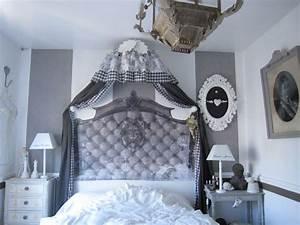 Lit Baroque Pas Cher : chambre grise une bulle de coton ~ Teatrodelosmanantiales.com Idées de Décoration