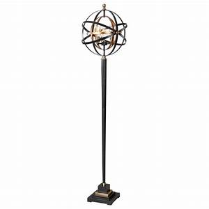 rondure dark oil rubbed bronze three light floor lamp With bronze linear floor lamp with four lights