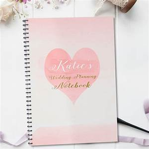 personalised wedding planning notebook gift by august With gift for wedding planner