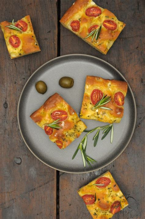 ligurian focaccia  rosemary  cherry tomatoes