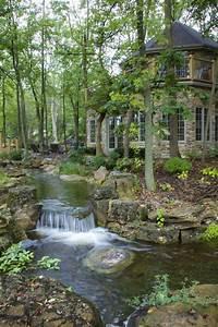 Waterfalls, And, Streams, Run, Throughout, The, Backyard