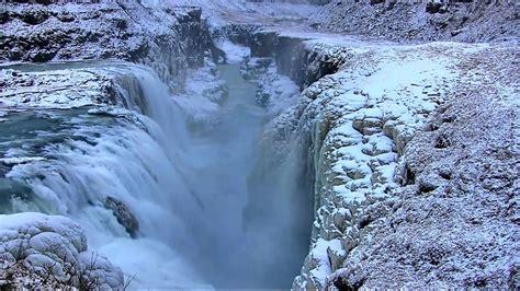gullfoss  golden falls waterfall  iceland youtube