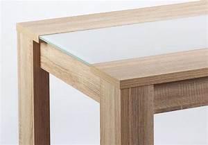 Tisch Eiche Weiß : esstisch leon esszimmer tisch eiche s gerau glas wei 180x90 cm ebay ~ Indierocktalk.com Haus und Dekorationen
