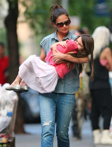 Suri Cruise In Katie Holmes And Daughter Suri Out And