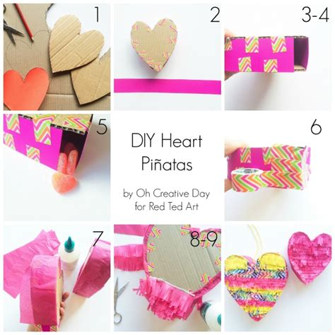 Diy Pinata Heart  Red Ted Art's Blog