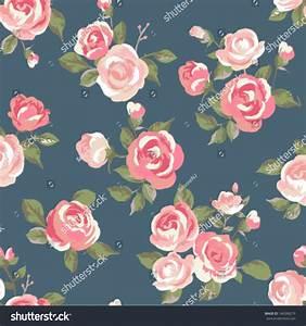Seamless Cute Vintage Rose ,Flower Pattern Vector ...