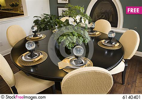Decorations For Dining Room Table by Dining Table With Modern Decor Free Stock Images