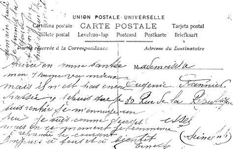 antique images digital  vintage french postcard  image handwritten image