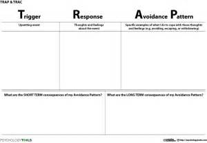 Depression Worksheet Trap Trac Cbt Worksheet Psychology Tools