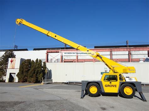 grove yb ton carry deck hydraulic crane diesel