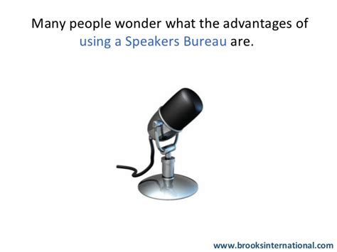 the speaker bureau why use a speakers bureau