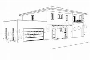 Dessin De Maison Moderne. architecture moderne maison dessin. maison ...