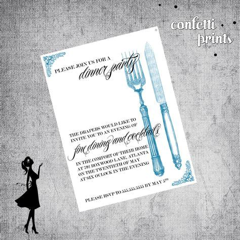 dinner party invitations images dinner party