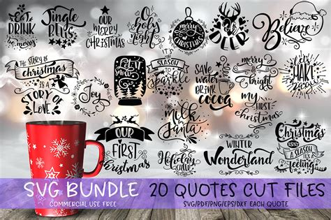 Svg, dxf, ai, eps, png. Christmas SVG Bundle Merry Christmas bundle By SVG Story ...
