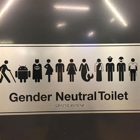 googles gender neutral bathroom sign  batman jedi