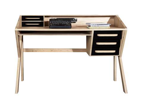 ethnicraft bureau bureau en bois massif avec tiroirs collection origami by