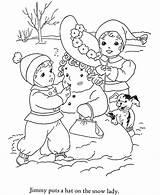 Coloring Winter Pages Christmas Sheets Season Snowman Preschool Printable Print Drawing Books Seasons Colouring Sheet Activity Snow Printables Dolphin Honkingdonkey sketch template
