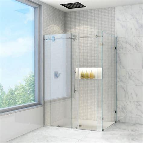 vigo vg6051chcl60 clear chrome 36 quot x 60 quot frameless shower enclosure with 3 8 quot glass
