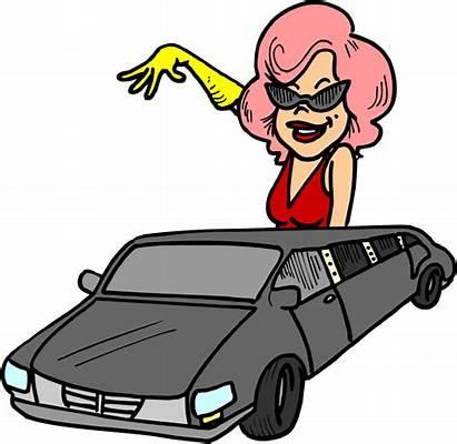 Cartoon Clipart Clip Celebrity Limousine Famous Celebrities