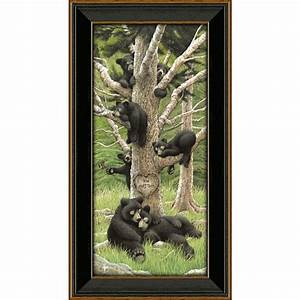 bear family tree personalized print small With kitchen cabinets lowes with custom family tree wall art