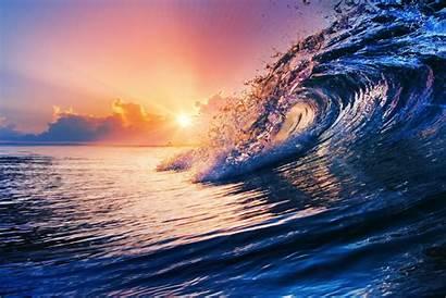 Ocean Sunset Water Wave Sea Sky Splash